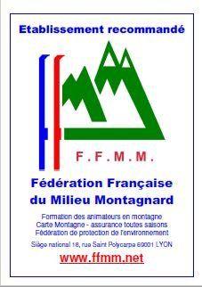 Nos chambres d'hôtes sont recommandées par la Fédération Française du Milieu Montagnard.