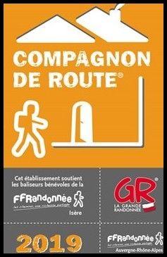 Nos chambres d'hôtes sont compagnons de route de la Fédération Française de Randonnée, pour l'Isère.